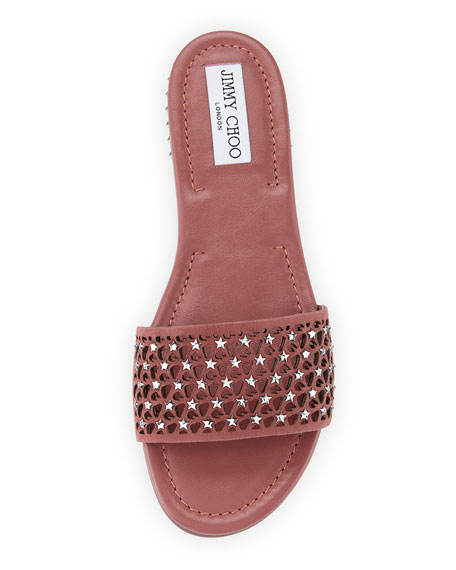 Dree Laser-Cut Flat Mule Sandal