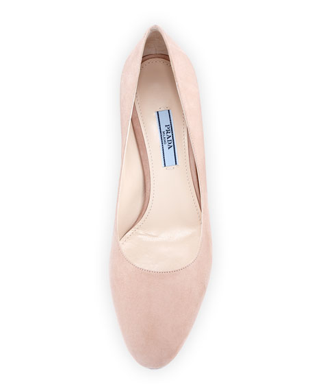 Suede 55mm Block-Heel Pump