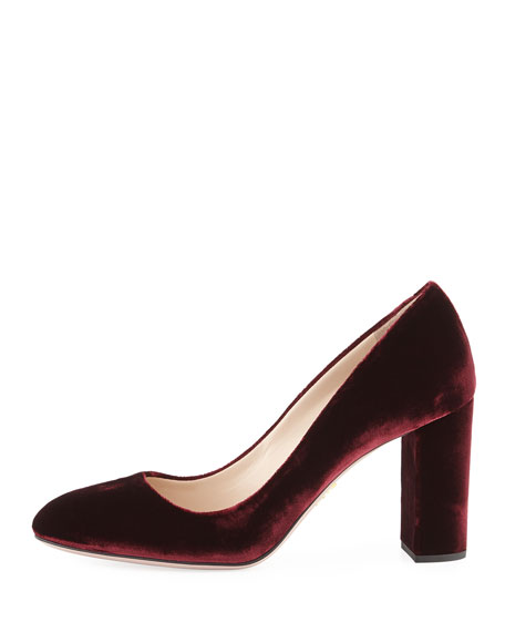 Velvet 85mm Block-Heel Pump
