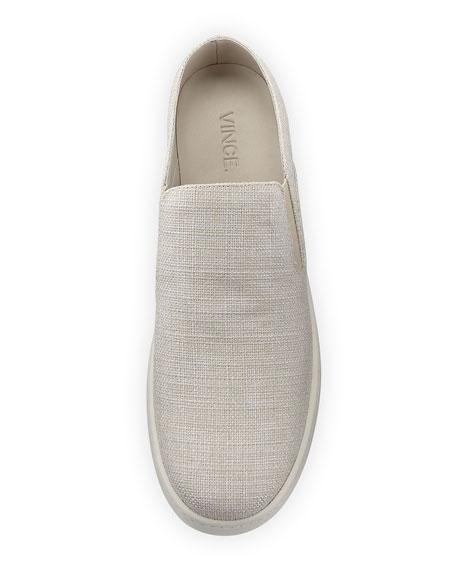 Verrell Fabric Open-Back Skate Sneaker, Beige