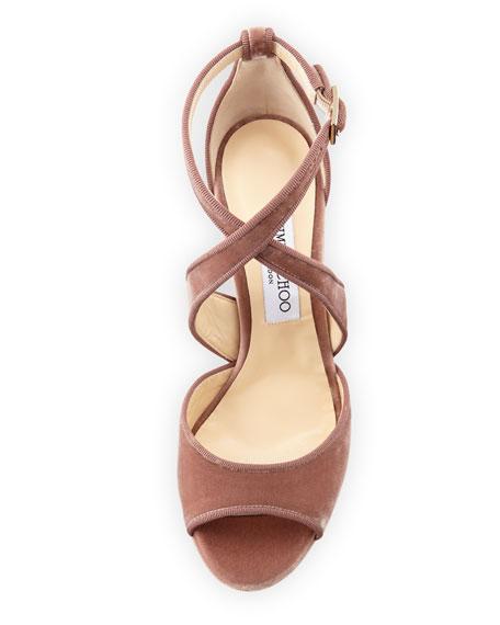 April Velvet Platform Sandal