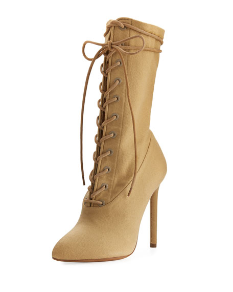 a9f662ef36e94 Yeezy Stretch-Canvas Lace-Up Boot
