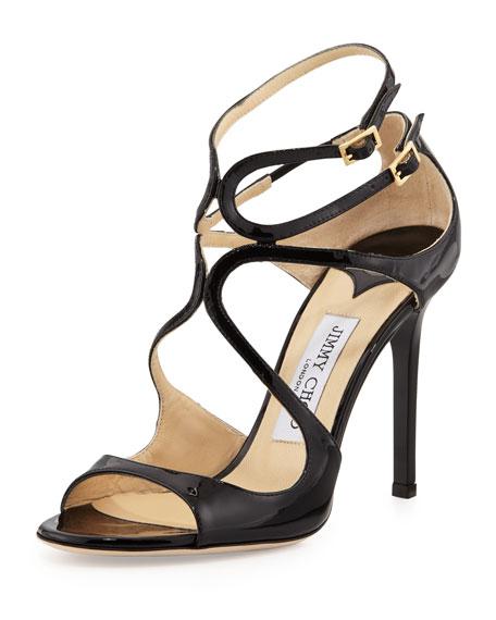 Jimmy Choo Lang Patent Strappy Sandal