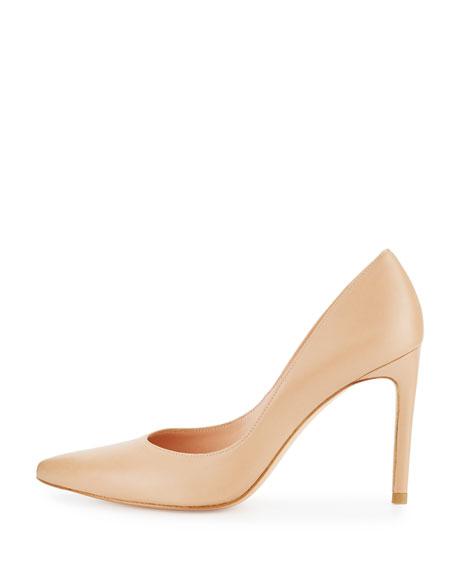 Legend Leather Pointed-Toe Pump