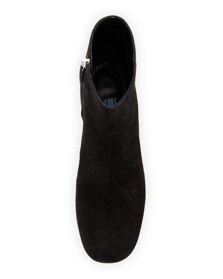 Suede Platform Block-Heel Boot