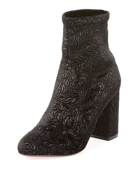 So Me Velvet Brocade Bootie