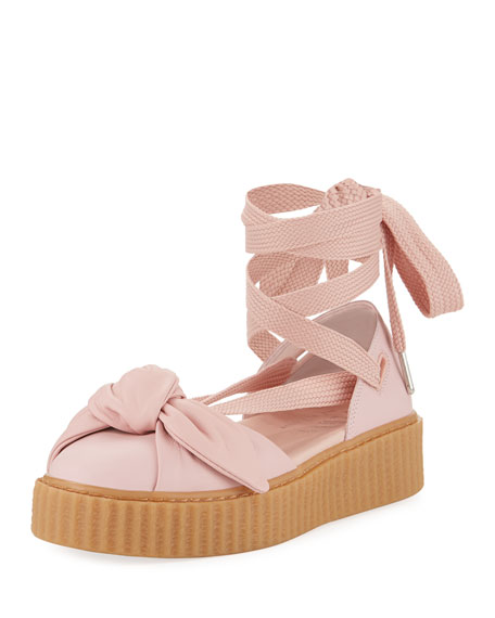 Fenty Puma by Rihanna Leather Bow Creeper Sandal ac9158d9e