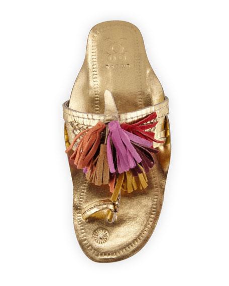 Scaramouche Metallic Tassel Sandal, Multi