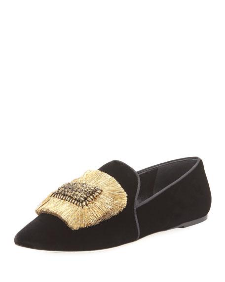Louis XIV Velvet Loafer