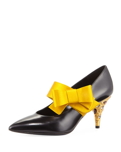 Jewel-Heel Bow Pump