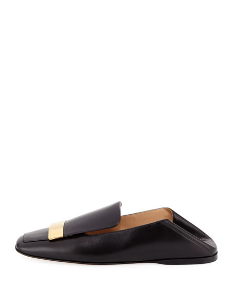 Leather Square-Toe Loafer
