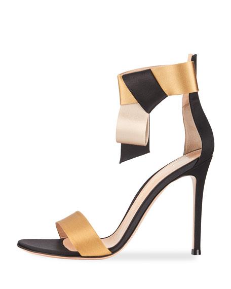 Geisha Bicolor Sandal Sandal,  Black/Gold