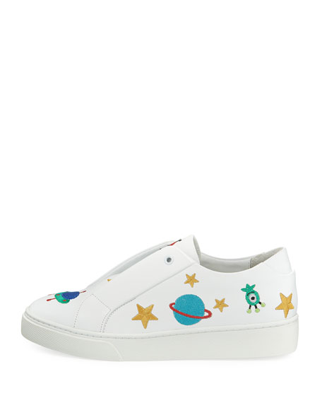 Halley Space Embroidered Slip-On Sneakers