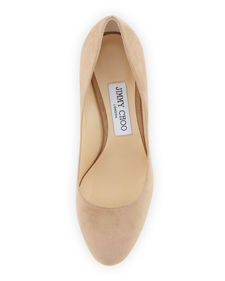 Bridget Suede Round-Toe Pump