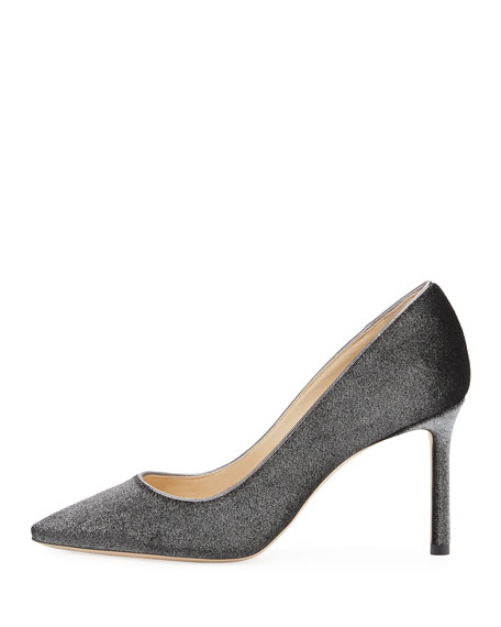 Romy Metallic Velvet Fabric 85mm Pump