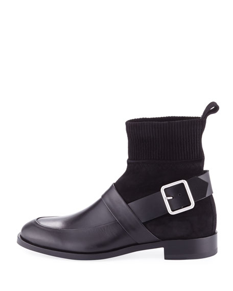 Fusion Leather Sock Hybrid Boots