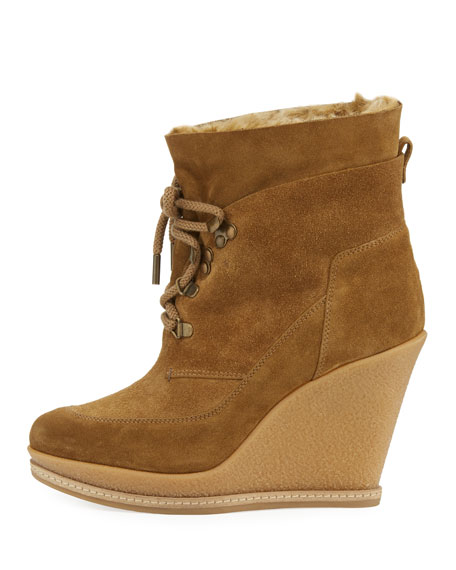 Mack Faux-Fur Lined Wedge Boot