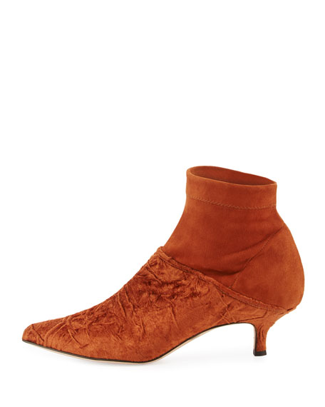 Jean Velvet Point-Toe Boot