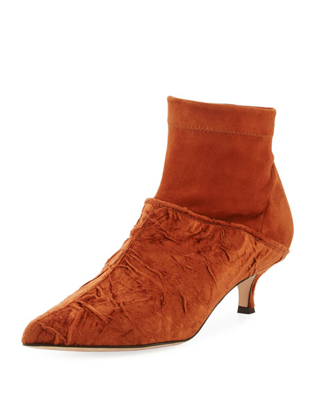 Jean Velvet Point-Toe Boot