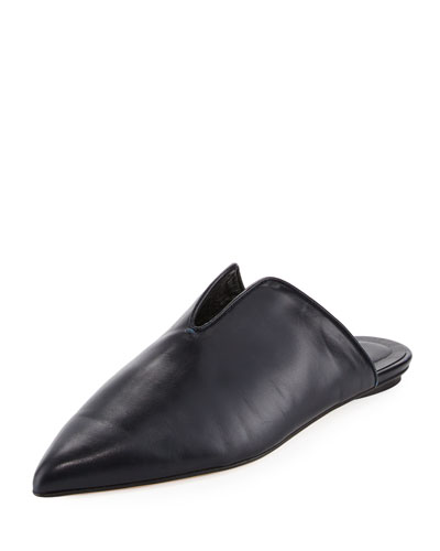 Cacey Leather Point-Toe Mule