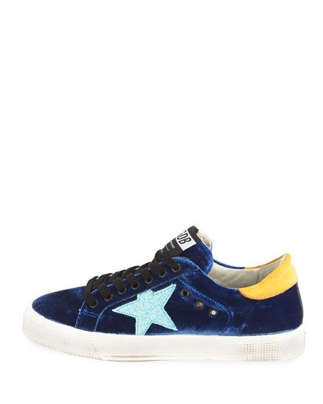 May Velvet Star Low-Top Sneaker