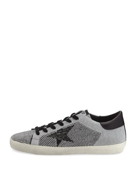 Metallic Knit Low-Top Sneaker
