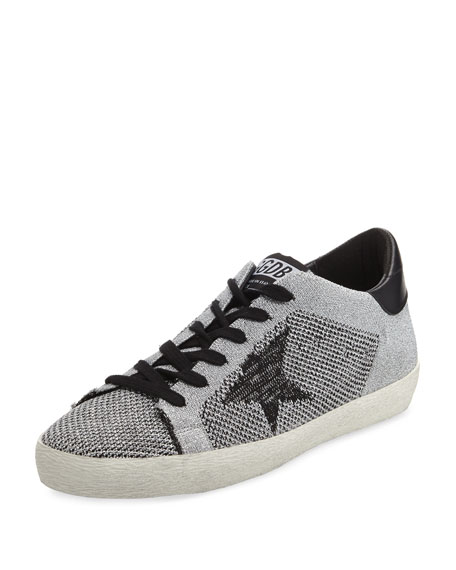 Golden Goose Metallic Knit Low-Top Sneaker