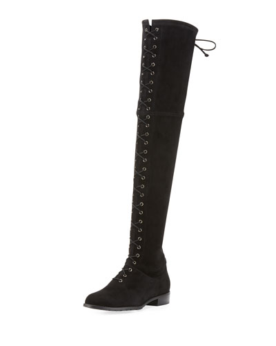Exes Lace-Up Over-the-Knee Boot