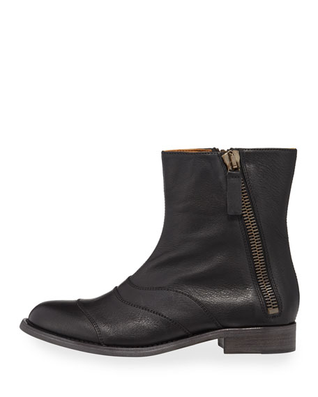 Lexie Leather Side-Zip Boot