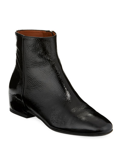 Ulyssa Leather Low-Heel Boot