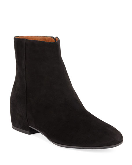 Women'S Ulyssaa Weatherproof Suede Hidden Wedge Booties in Black