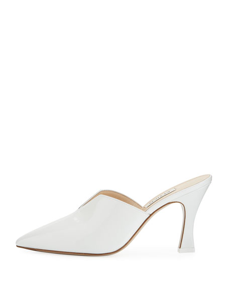 Patent Leather Point-Toe Mule Pump