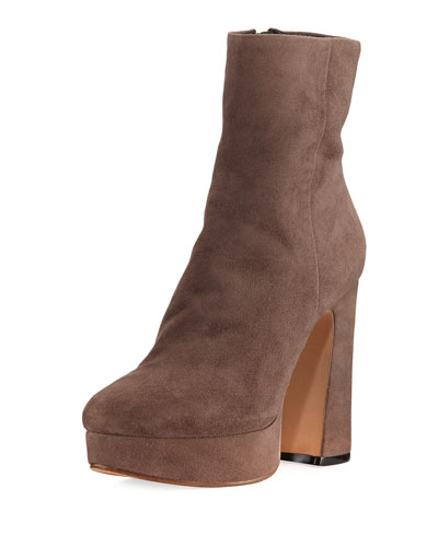 Loreta Suede Platform Ankle Boot