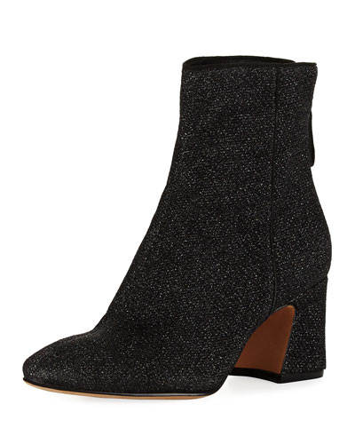 Corella Metallic Knit Block-Heel Boot