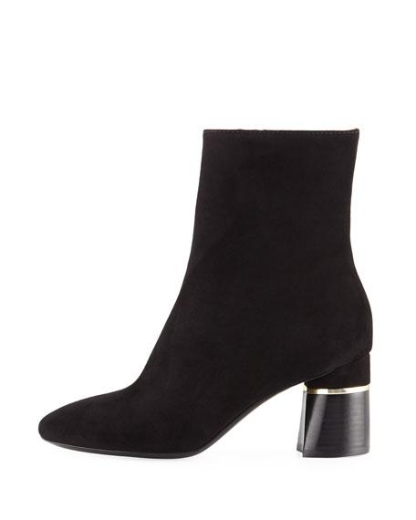 Suede 70mm Stack-Heel Boot