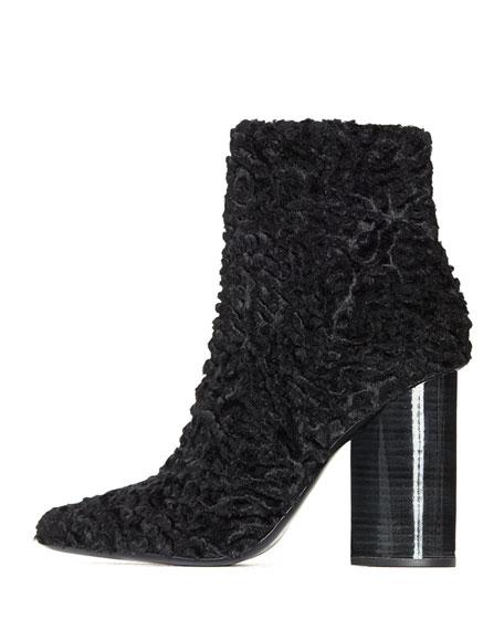 Edie Ruched Velvet Block-Heel Boot