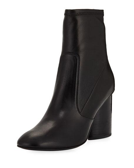 Dessa Leather 85mm Sock Bootie