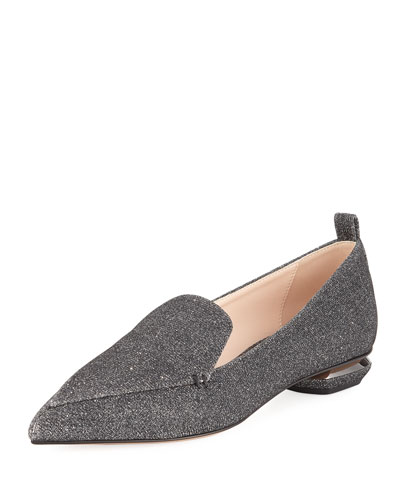 Beya Metallic Fabric Loafer
