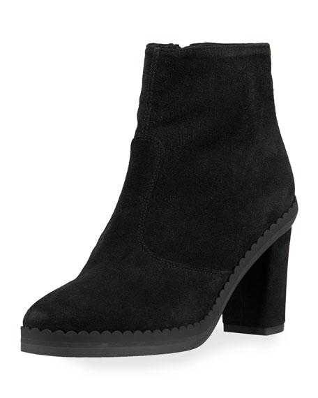 Suede Block-Heel 70mm Boot