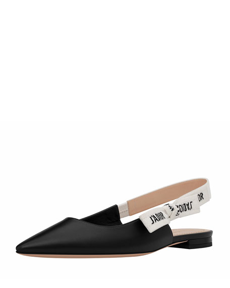 f2652e09f83 Dior J Adior Leather Slingback Flat