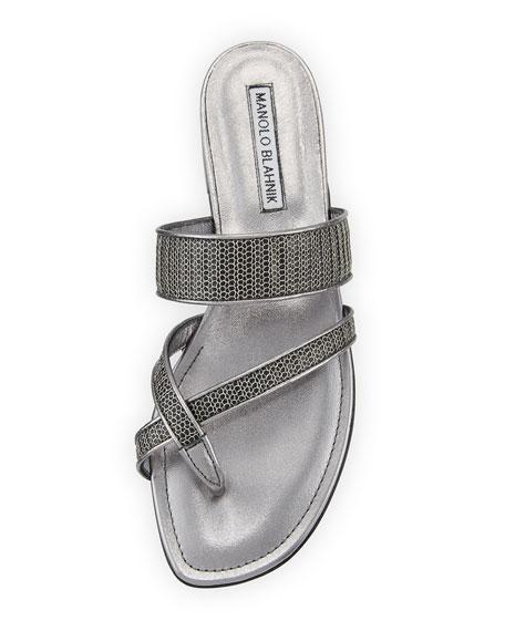 Susametal Woven Thong Sandal