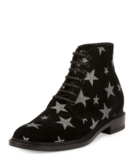 Dylan Star-Print Desert Boot, Black (Nero)