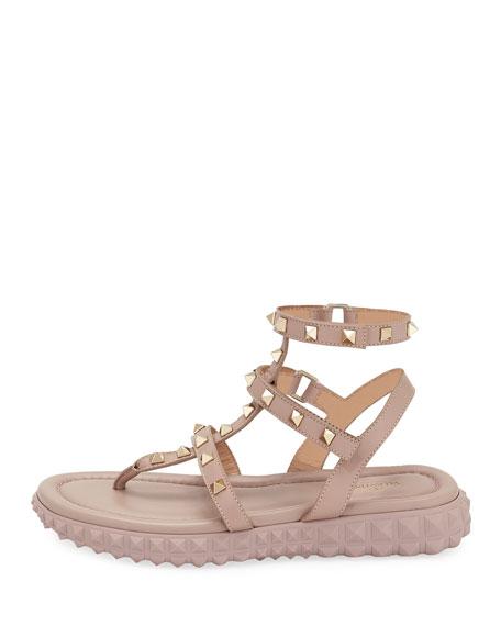 Free Rockstud Gladiator Thong Sandal w/ Rubber Sole