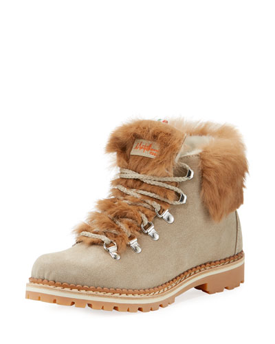 Margherita Fur-Trim Hiker Boot
