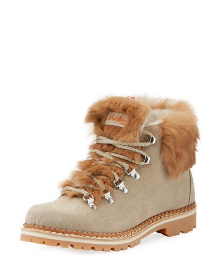 Margherita Fur-Trim Hiker Boot
