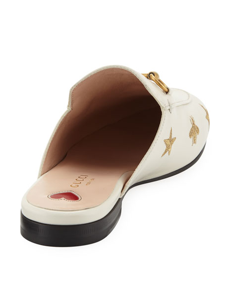 187ef36a7 Gucci Flat Princetown Bee & Star Mule