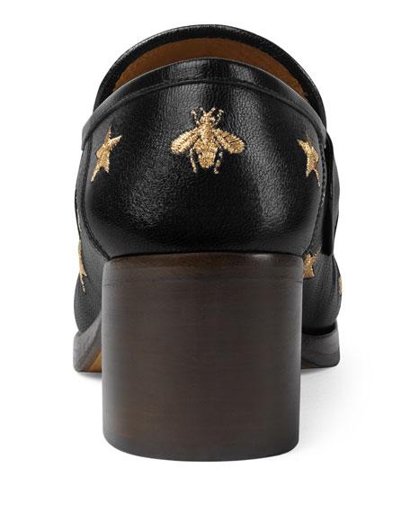 Vegas Bee Block-Heel Loafer
