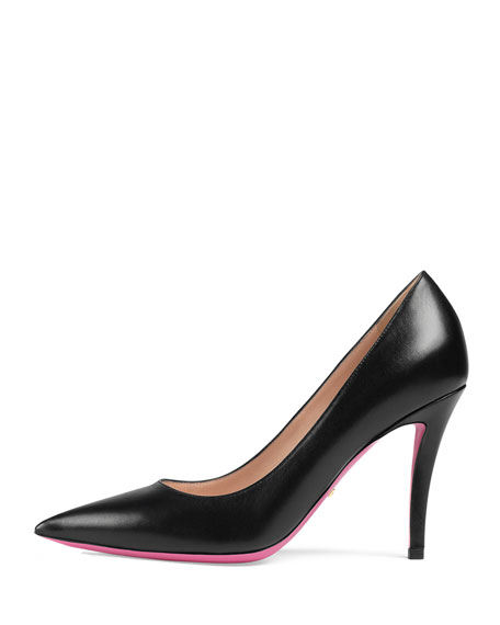 Virginia Leather Mary Jane Pump