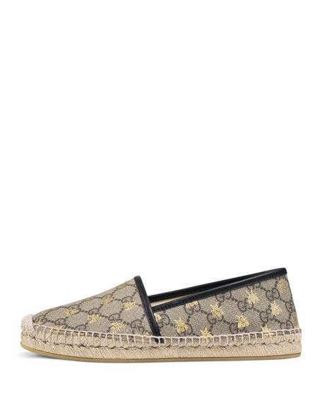 85750a3428af Gucci Flat Pilar GG Espadrille With Bees