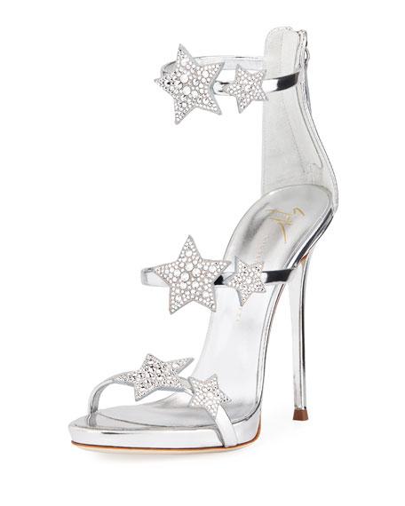 Metallic Leather Star Sandal